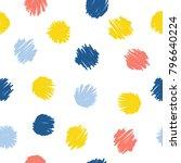 abstract handmade seamless... | Shutterstock .eps vector #796640224