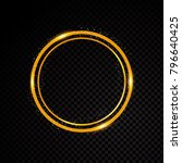 vector round frame. shining... | Shutterstock .eps vector #796640425