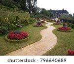 a beautiful landscaped garden... | Shutterstock . vector #796640689