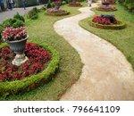 a beautiful landscaped garden... | Shutterstock . vector #796641109