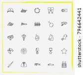 military line icon set military ... | Shutterstock .eps vector #796642441