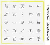 military line icon set... | Shutterstock .eps vector #796643521