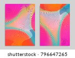 abstract cover template with... | Shutterstock .eps vector #796647265