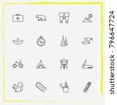 camping line icon set medicine  ... | Shutterstock .eps vector #796647724