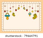 Stock vector vector beautiful background with baby icons 79664791