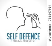 pepper spray   self defence... | Shutterstock .eps vector #796647994