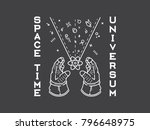it's a spaceman holding between ... | Shutterstock .eps vector #796648975