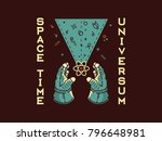 it's a spaceman holding between ... | Shutterstock .eps vector #796648981