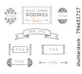hand drawn doodles of headers... | Shutterstock .eps vector #796651717
