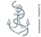 sea anchor on white background  ... | Shutterstock .eps vector #796654771