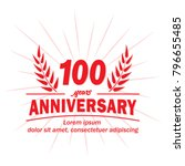 100 years anniversary logo.... | Shutterstock .eps vector #796655485