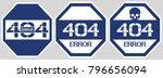erorr 404 sign. a poster... | Shutterstock .eps vector #796656094
