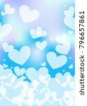 heart love background | Shutterstock .eps vector #796657861