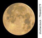 detailed full moon   isolated... | Shutterstock .eps vector #796660279