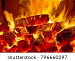 Firewood Burning  Fire Embers ...