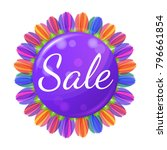sale concept banner with... | Shutterstock .eps vector #796661854