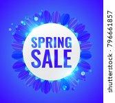 spring sale concept banner. | Shutterstock .eps vector #796661857