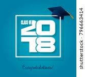 graduation label. vector text... | Shutterstock .eps vector #796663414