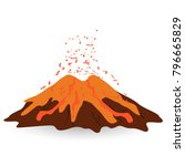 volcano isolated on white photo ...