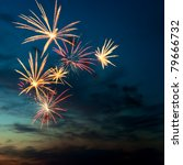 Brightly Colorful Fireworks An...