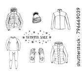 winter sports equipment and... | Shutterstock .eps vector #796669039