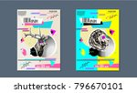 abstract cover design poster | Shutterstock .eps vector #796670101
