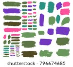 collection of hand drawn... | Shutterstock .eps vector #796674685
