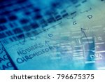 dna sequence. science concept. | Shutterstock . vector #796675375
