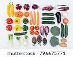 fresh tasty seasonal vegetables ...   Shutterstock . vector #796675771