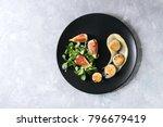 fried scallops with lemon  figs ... | Shutterstock . vector #796679419