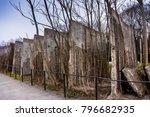 a segment of the berlin wall.... | Shutterstock . vector #796682935