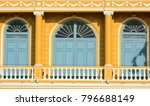 classic wood window at the... | Shutterstock . vector #796688149