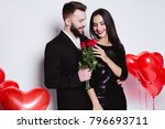 valentine's day. beautiful... | Shutterstock . vector #796693711