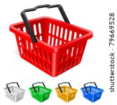 colorful shopping basket.... | Shutterstock .eps vector #79669528