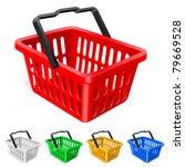 colorful shopping basket.... | Shutterstock .eps vector #79669528