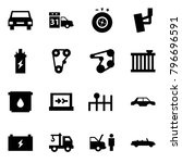 origami style icon set   car... | Shutterstock .eps vector #796696591