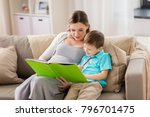 family  education and pregnancy ... | Shutterstock . vector #796701475