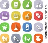flat vector icon set   cleanser ... | Shutterstock .eps vector #796704571