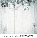 christmas firtree on white... | Shutterstock . vector #796706371