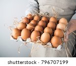 hands of woman with a huge... | Shutterstock . vector #796707199
