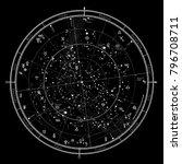 astrological celestial map of... | Shutterstock .eps vector #796708711