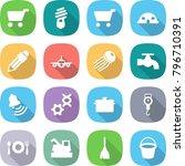 flat vector icon set   cart... | Shutterstock .eps vector #796710391