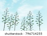 gorgeous trees in the sky | Shutterstock . vector #796714255