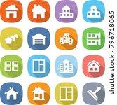 flat vector icon set   home... | Shutterstock .eps vector #796718065