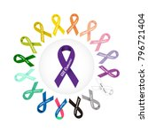 World Cancer Day. Colorful...