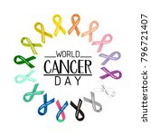 world cancer day text. colorful ... | Shutterstock .eps vector #796721407