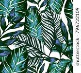 watercolor seamless pattern...   Shutterstock .eps vector #796722109