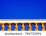 detail from an old neoclassical ...   Shutterstock . vector #796725391
