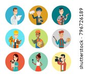 flat style professional people... | Shutterstock .eps vector #796726189