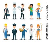flat style professional people... | Shutterstock .eps vector #796726207